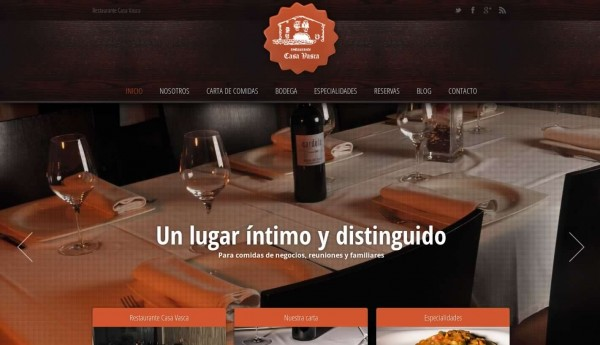 Diseño Web – Restaurante Casa Vasca