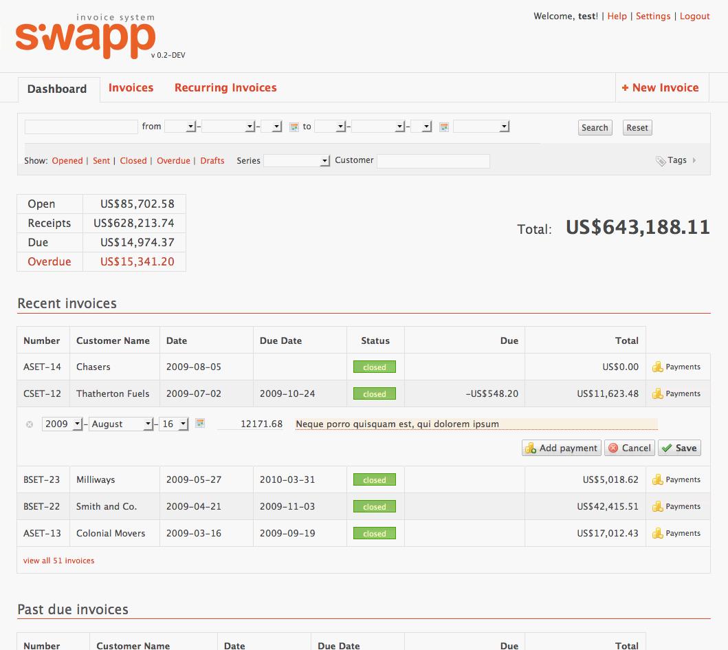 siwapp openinnova gestión empresarial
