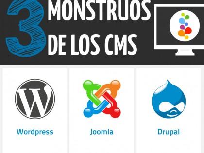 3 Monstruos de los CMS: WordPress, Joomla y Drupal