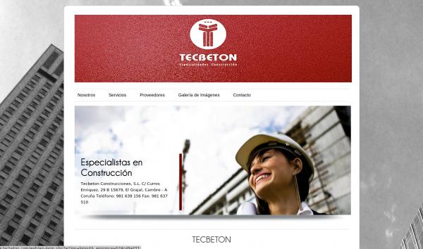 Web Corporativa – Tecbeton
