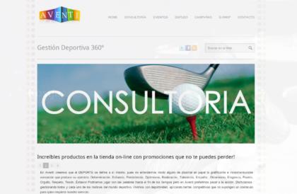 Web & Tienda Virtual – Aventi Gestión Deportiva 360º