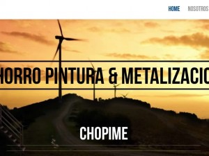 Web Corporativa – Chopime Pintura industrial