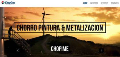 Web Corporativa – Chopime Pintura industrial
