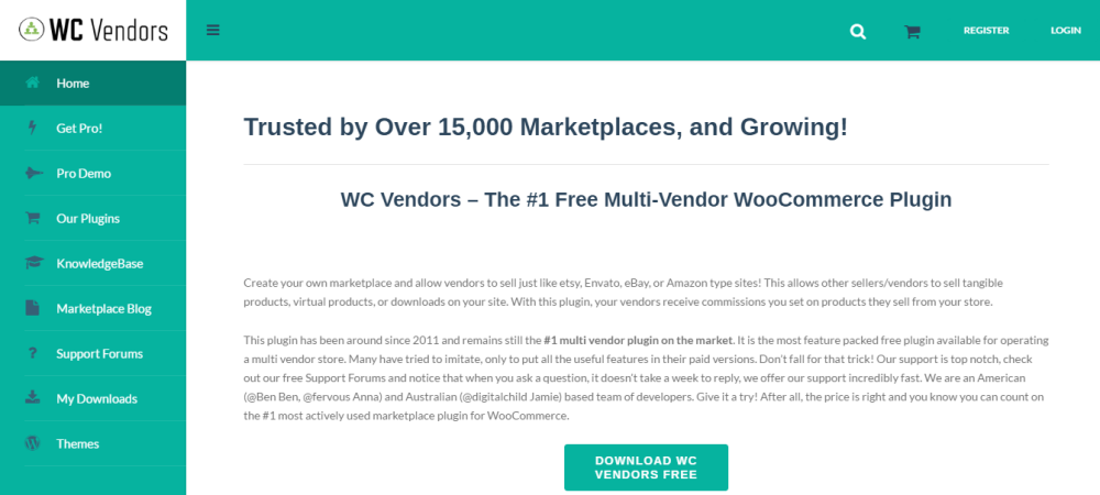 Marketplace con Woocommerce WordPress