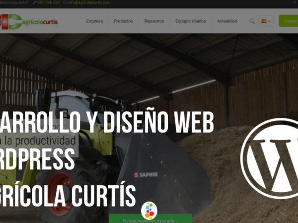 Desarrollo y Diseño Web WordPress – Agrícola Curtís