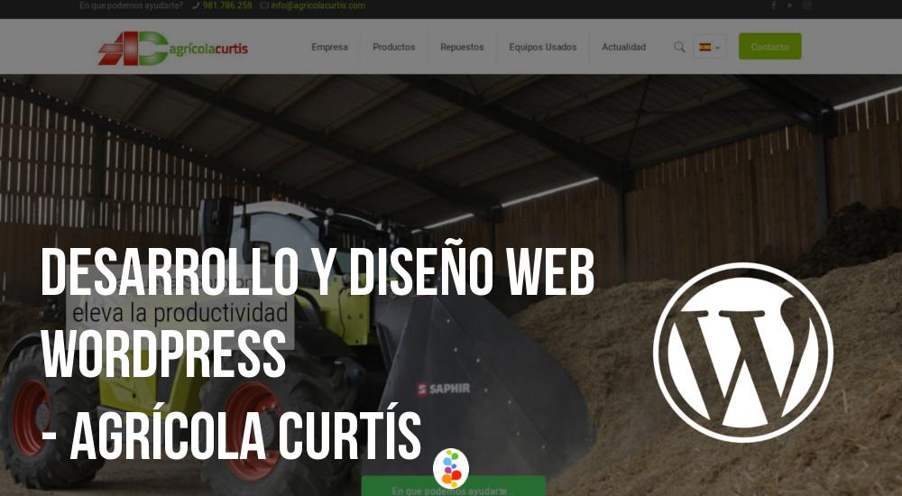 Desarrollo y Diseño Web Wordpress - Agrícola Curtís Openinova