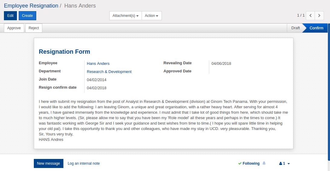 Odoo Mejor Software Gestión Recursos Humanos HRMS Openinova17