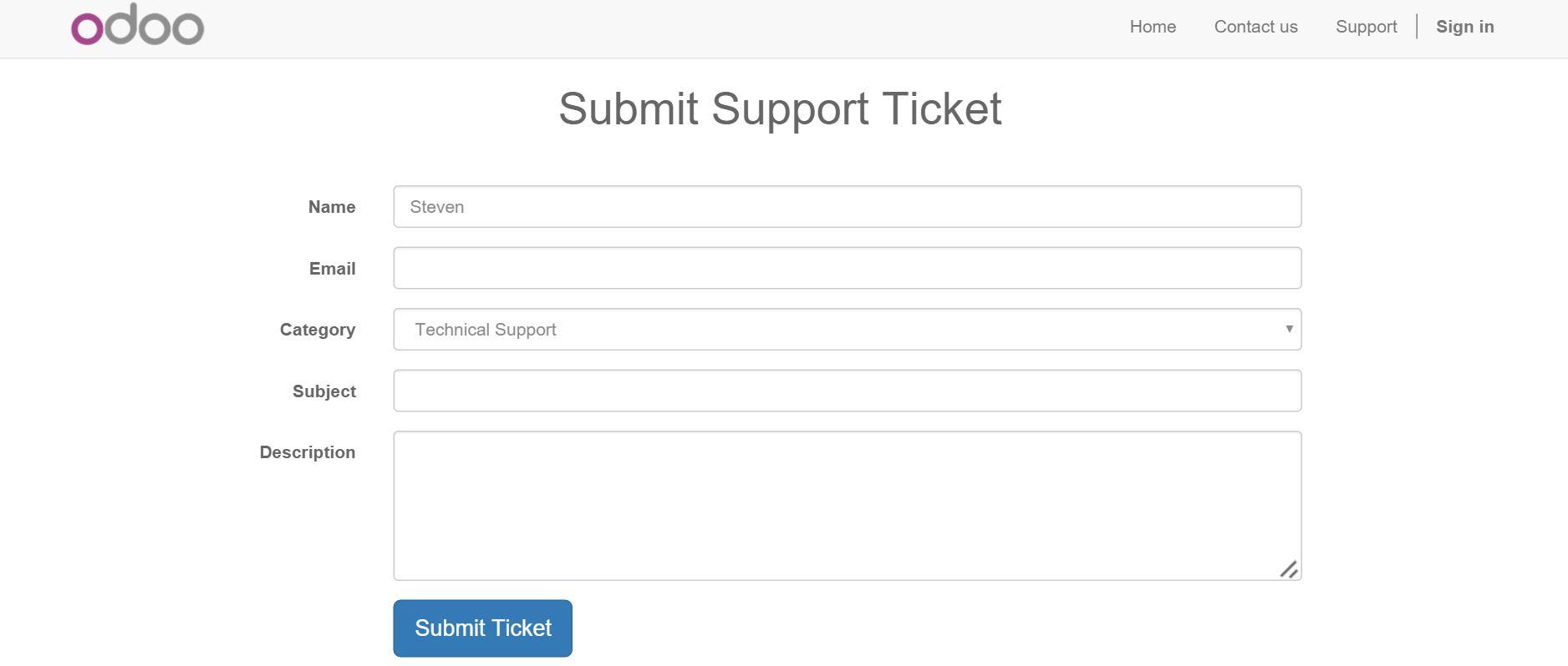 Odoo Software Tickets Soporte Técnico