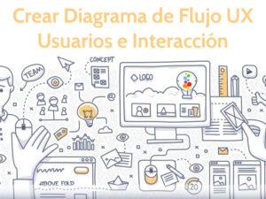 Crear Diagrama de Flujo UX Usuarios e Interacción