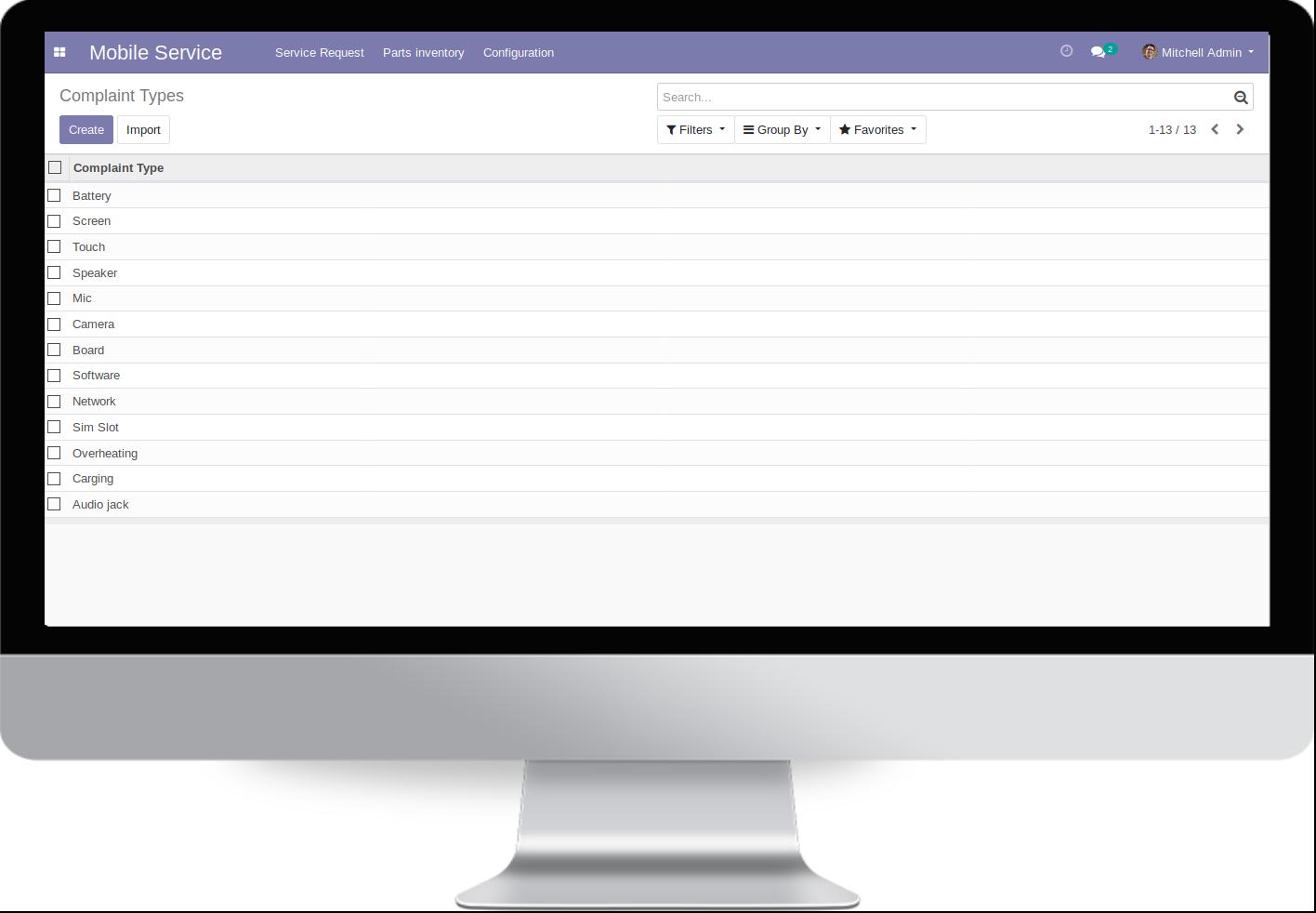 Odoo Software SAT Móviles. Tienda Reparación Openinnova